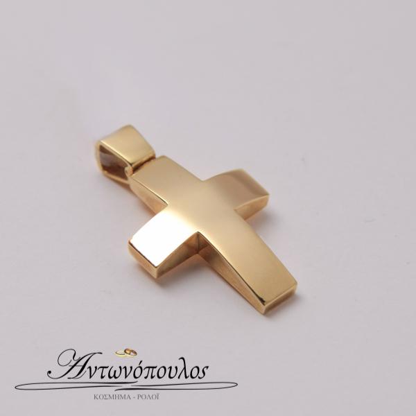 Σταυρός Λουστρέ σε Χρυσό 14 Καράτια tr5110