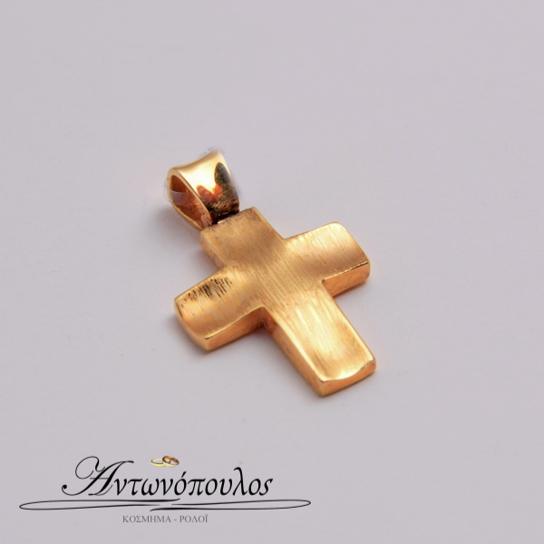 Σταυρός Χρυσός Κ14 Σαγρέ -tr5139