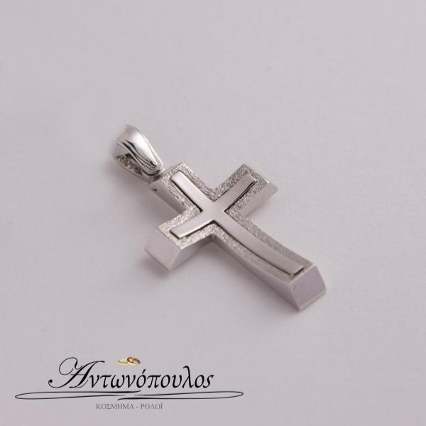 Σταυρός Λευκόχρυσος Κ14 -mb5468