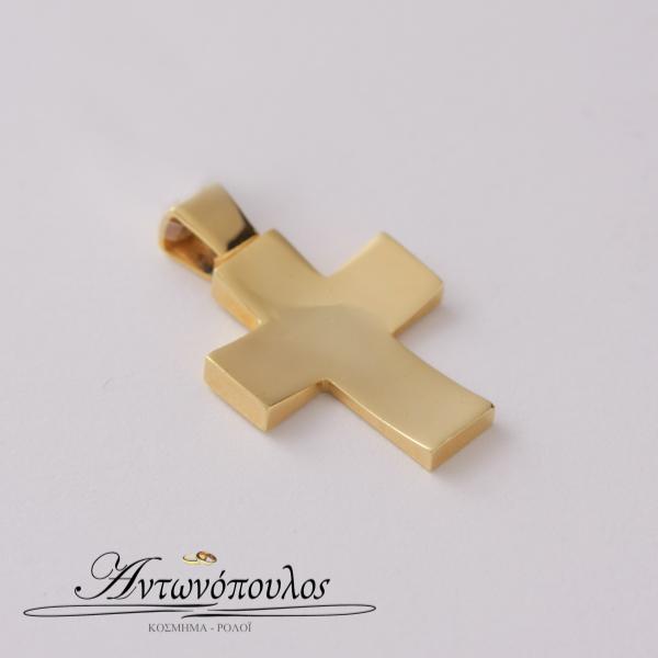 Σταυρός Χρυσός Λουστρέ κ14 -tr5505