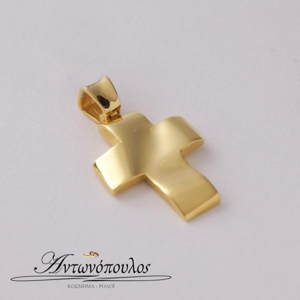 Σταυρός Χρυσός Λουστρέ Κ9 -tr5508
