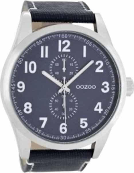 Ρολόι Oozoo με Μπλε Δερμάτινο Λουρί c8222