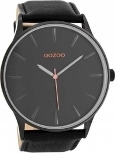 Ρολόι oozoo Μαύρο με Δερμάτινο Λουρί c8233