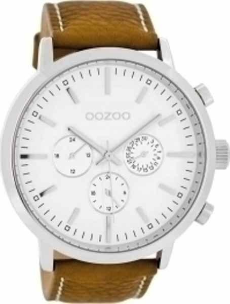 Ρολόι oozoo Λευκό με Δερμάτινο Λουρί c8236