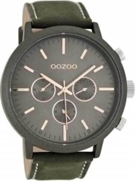 Ρολόι oozoo Γκρι με Δερμάτινο Λουρί c8237