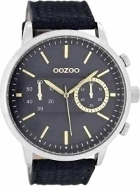 oozoo Ρολόι με Μπλε Δερμάτινο Λουρί c8267