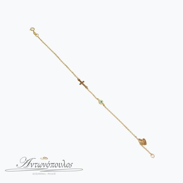 Βραχιόλι Ματάκι Χρυσό -pa001