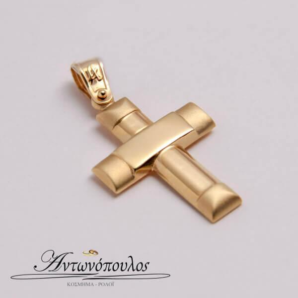 Σταυρός Χρυσός Κ14 Λουστρέ -mb5116