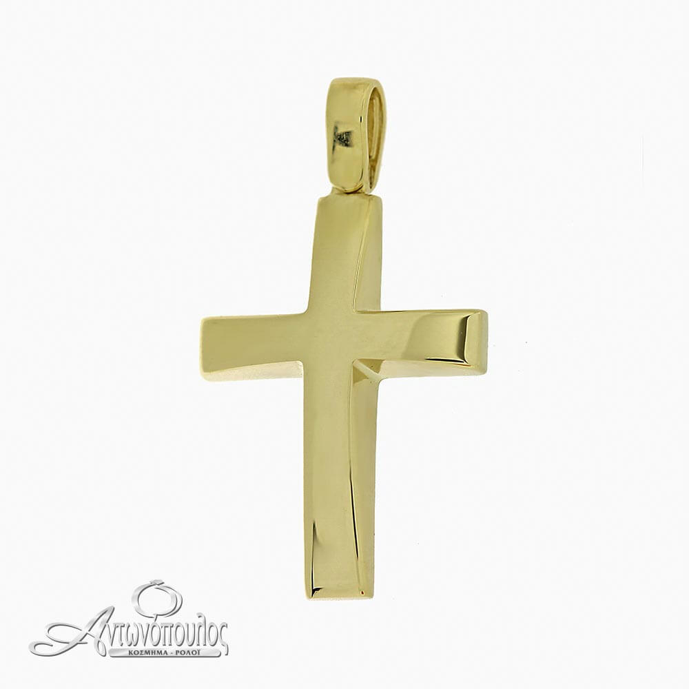 Σταύρος Χρυσός Λουστρέ 14 Καράτια -arg338
