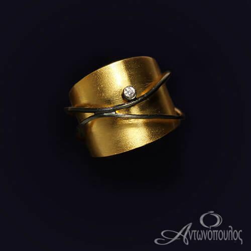 Επιχρυσωμένο Δαχτυλίδι με Ζιργκόν gp5321