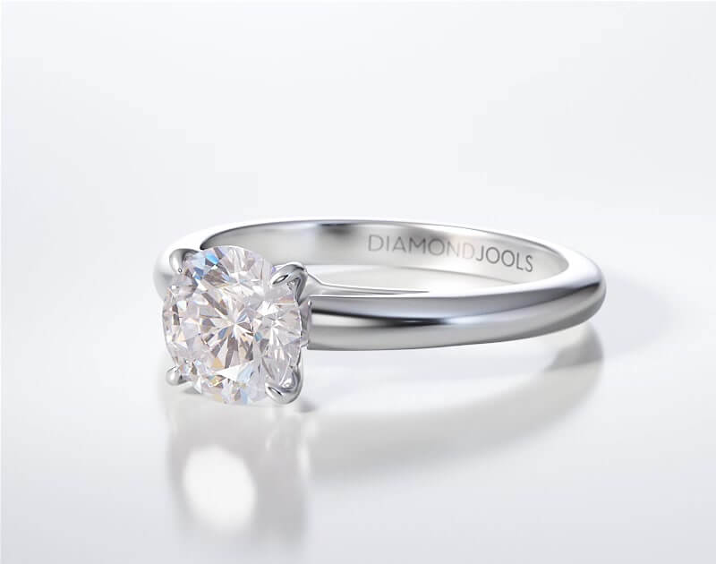 Δαχτυλίδι Μονόπετρο Λευκόχρυσο 18 Καράτια Brilliant 719cc41-ENG07