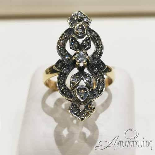 Δαχτυλίδι Χρυσό Κ18 Brilliant - gr013