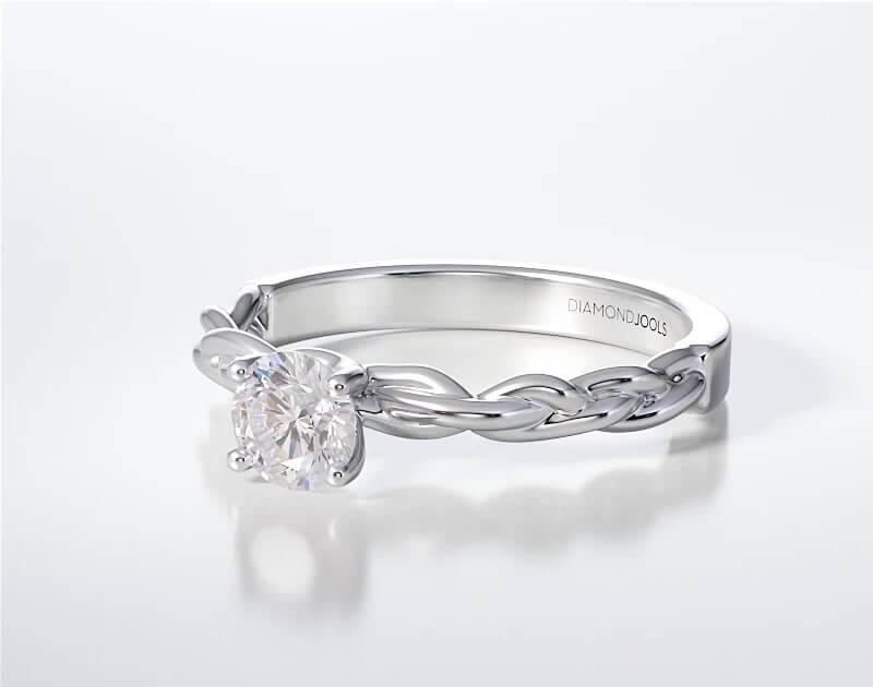 Μονόπετρο Δαχτυλίδι Diamond Jools Λευκόχρυσο 18K Brilliant 0.30ct G VVS1 - dj005