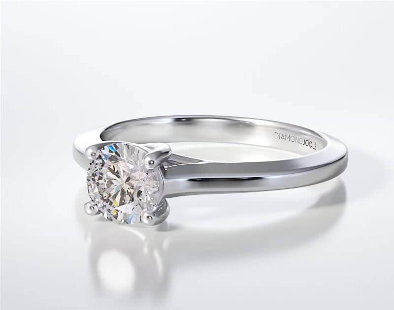 Μονόπετρο Δαχτυλίδι Diamond Jools Λευκόχρυσο 18 Καράτια & Διαμάντι Brilliant F VS1 - dj017