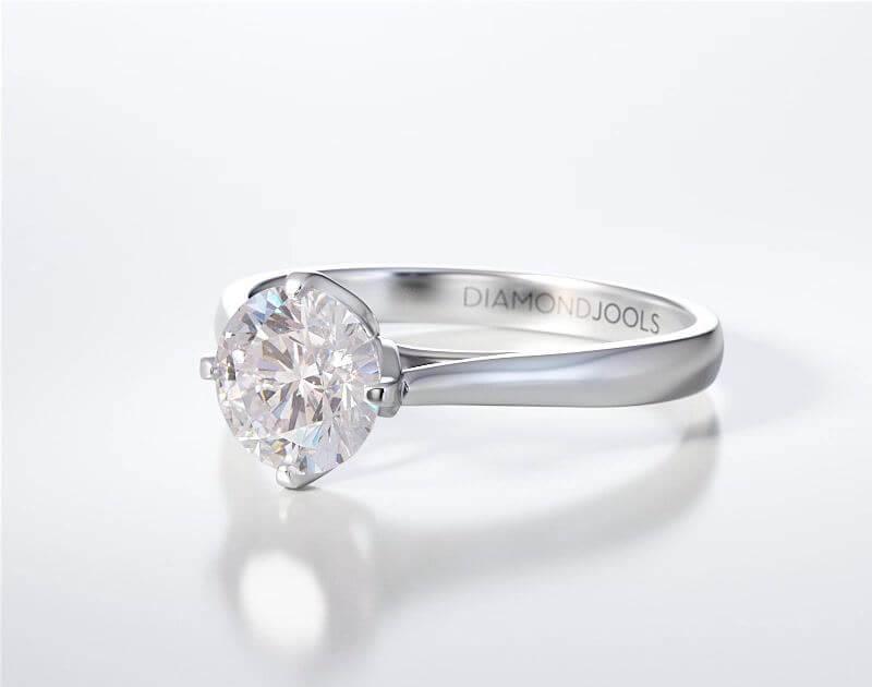 Μονόπετρο Δαχτυλίδι Diamond Jools Λευκόχρυσο 18 Καράτια & Διαμάντι Brillant F VS1 - dj022