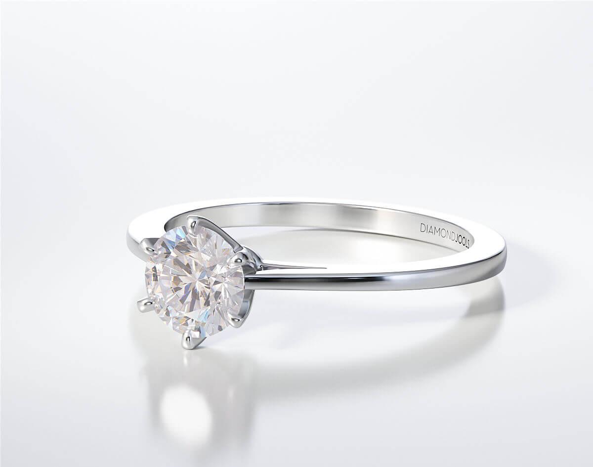 Μονόπετρο Δαχτυλίδι Diamond Jools Λευκόχρυσο 18 Καράτια & Διαμάντι Brilliant F VS1 - dj020