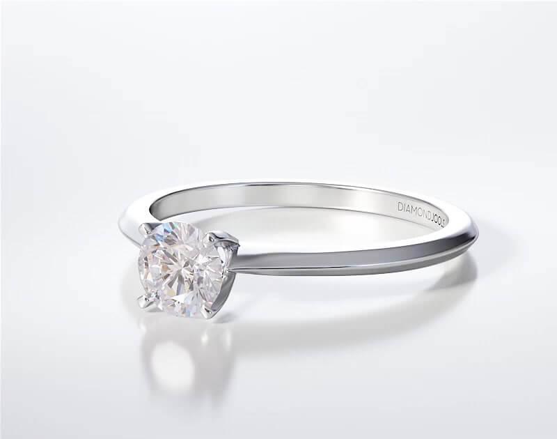 Μονόπετρο Δαχτυλίδι Diamond Jools Λευκόχρυσο 18 Καράτια με Διαμάντι Brilliant F VS1 - dj015
