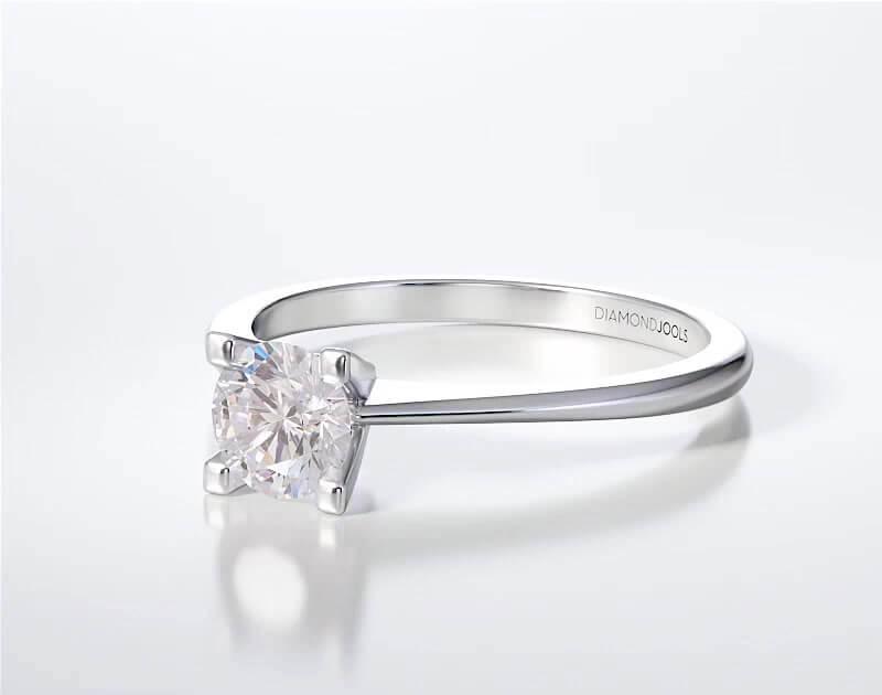 Μονόπετρο Δαχτυλίδι Diamond Jools Λευκόχρυσο 18 Καράτια & Διαμάντι Brilliant F VS1 - dj023