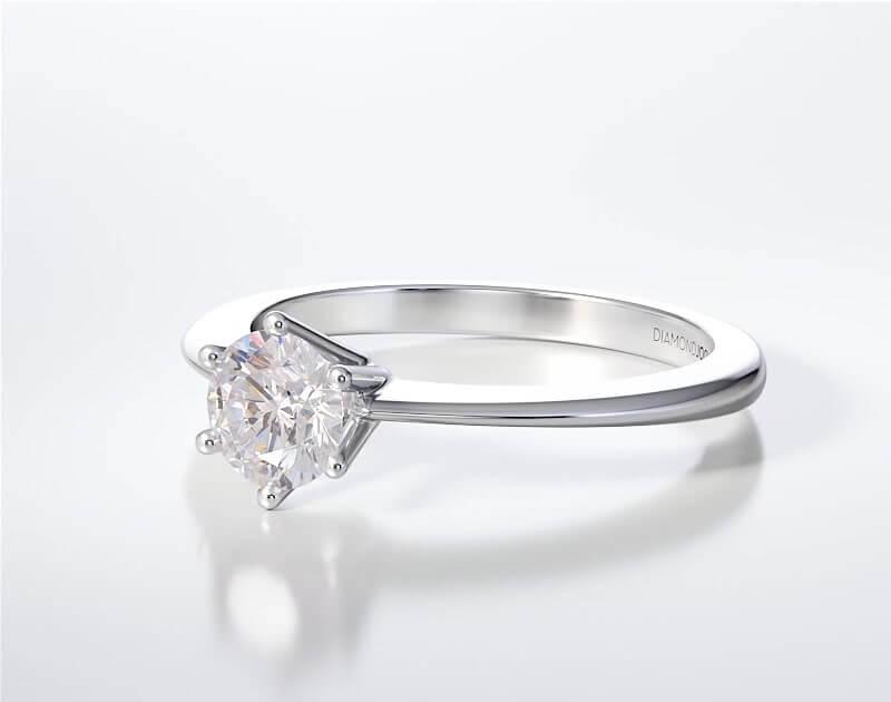 Μονόπετρο Δαχτυλίδι Diamond Jools Λευκόχρυσο 18 Καράτια με Διαμάντι Brilliant F VVS1 - dj010