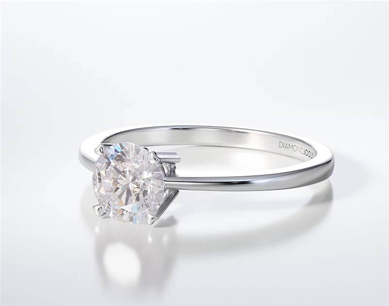 Μονόπετρο Δαχτυλίδι Diamond Jools Λευκόχρυσο 18Κ & Διαμάντι Brillant G VS1 - dj013