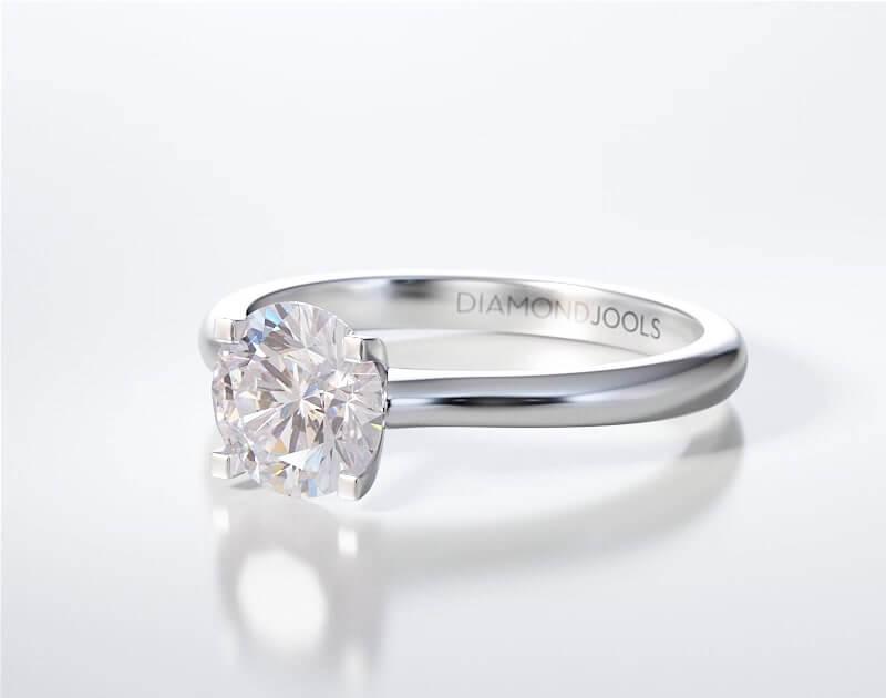 Μονόπετρο Δαχτυλίδι Diamond Jools Λευκόχρυσο 18 Καράτια με Διαμάντι Brilliant F VS1 - dj016