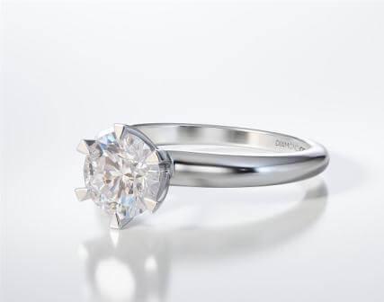 Μονόπετρο Δαχτυλίδι Diamond Jools Λευκόχρυσο 18 Καράτια με Διαμάντι Brilliant F VS1 - dj024