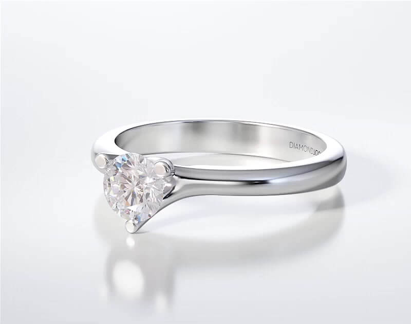 Μονόπετρο Δαχτυλίδι Diamond Jools Λευκόχρυσο 18 Καράτια & Διαμάντι Brilliant F VS1 - dj025