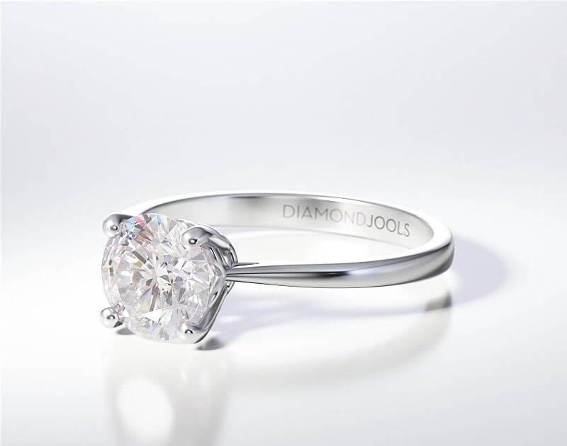 Μονόπετρο Δαχτυλίδι Diamond Jools Λευκόχρυσο 18 Καράτια με Διαμάντι Brilliant F VVS1 - dj014
