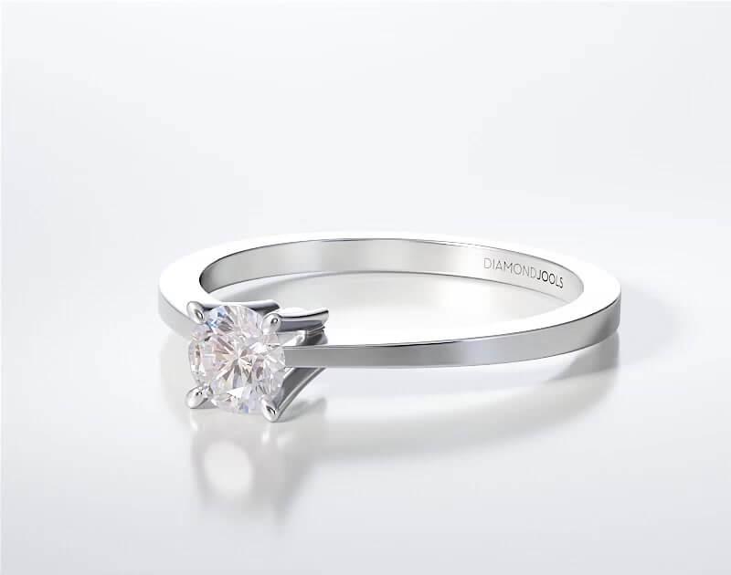 Μονόπετρο Δαχτυλίδι Diamond Jools Λευκόχρυσο 18Κ με Διαμάντι Brilliant G VS1 - dj009