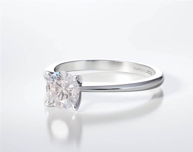 Μονόπετρο Δαχτυλίδι Diamond Jools Λευκόχρυσο 18 Καράτια με Διαμάντι Brilliant G VS2 - dj011