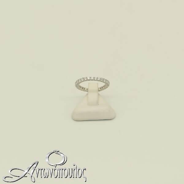 Δαχτυλίδι Ασημένιο με πέτρες Ζιργκόν σε σειρά - rs3285_2