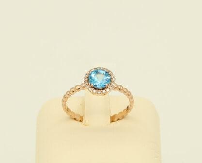 Δαχτυλίδι Ροζ Χρυσό 14Κ με Ζιργκόν - gr053