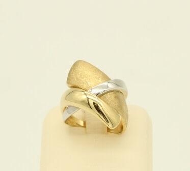 Δαχτυλίδι Χρυσό & Λευκόχρυσο 14Κ - gr061