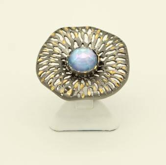 Ασημένιο Δαχτυλίδι με Αχάτη - AP2446