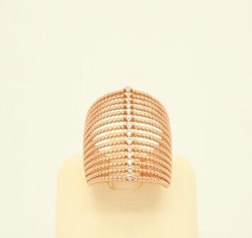 Ασημένιο Δαχτυλίδι με Ροζ Επιχρύσωση & Ζιργκόν - sr008