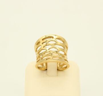 Δαχτυλίδι Ασημένιο Επιχρυσωμένο - sr011