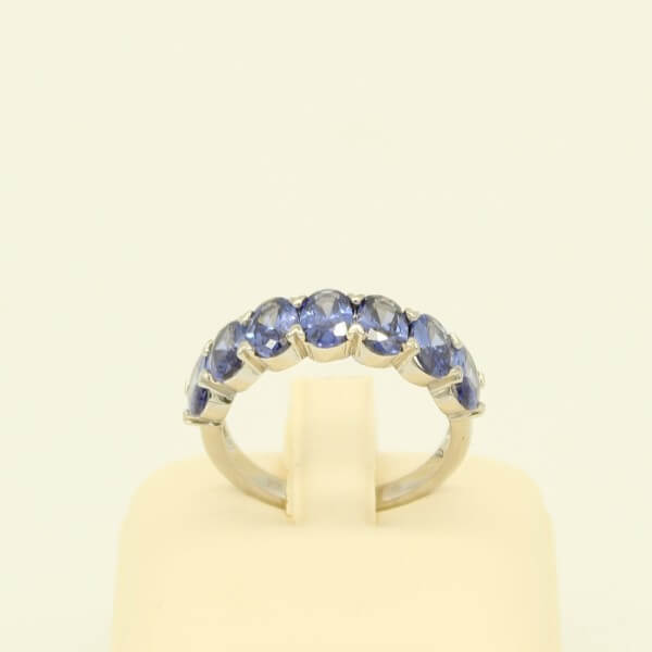 Ασημένιο Δαχτυλίδι με London Blue Zircon - sr013