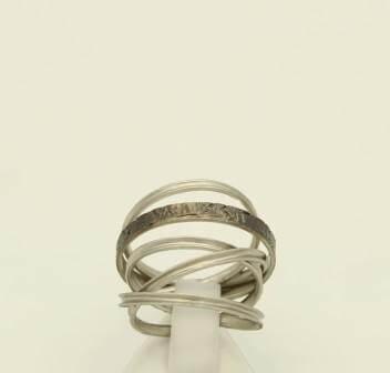 Δαχτυλίδι Ασημένιο, με Μαύρη Επιροδίωση - sr093