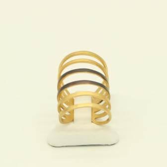 Δαχτυλίδι Ασημένιο Επιχρυσωμένο, με Μαύρη Επιροδίωση - sr946