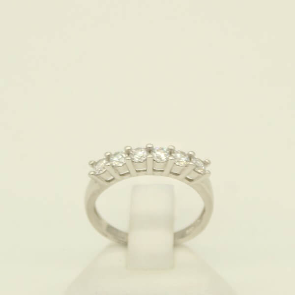 Δαχτυλίδι Ασημένιο με Σειρά από Ζιργκόν - rs3556