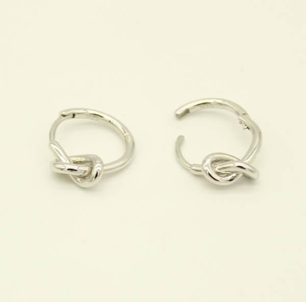 Σκουλαρίκια Ασημένια Επιροδιωμένα - se011