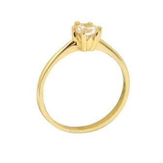 Χρυσό Δαχτυλίδι Μονόπετρο 14Κ με Ζιργκόν - gr066