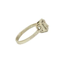 Λευκόχρυσο Δαχτυλίδι 18Κ Παγιέτα με Invisible Διαμάντια - em131